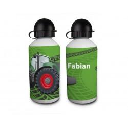 Trinkflasche - Traktor Grün