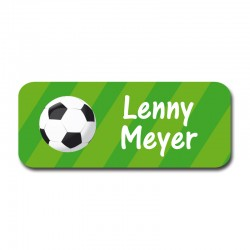 Namensaufkleber - Fußball