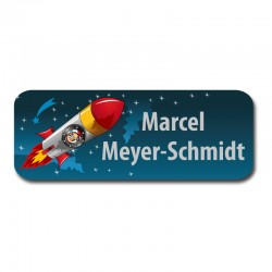 Namensaufkleber -  Astronaut