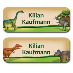 Namensaufkleber -  Dinosaurier
