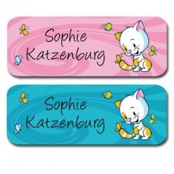 Namensaufkleber - Kätzchen