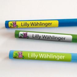 Stifteaufkleber - Eule Lilly