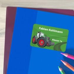 Heftaufkleber - Traktor Grün