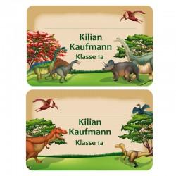 Heftaufkleber - Dinosaurier