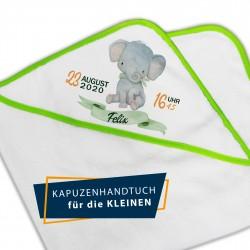 Kapuzenbadetuch - Elefant...