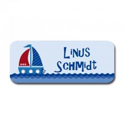 Namensaufkleber - Schiff