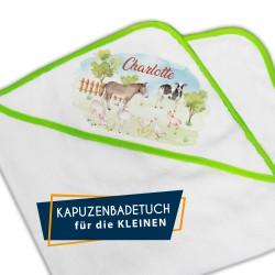 Kapuzenbadetuch - Bauernhof...