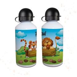 Trinkflasche - Löwe & Tiger