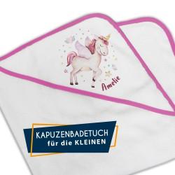 Kapuzenbadetuch - Einhorn...