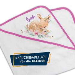 Kapuzenbadetuch - Rehkitz...