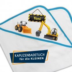Kapuzenbadetuch - Radlader...