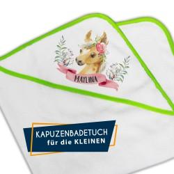 Kapuzenbadetuch - Pony...