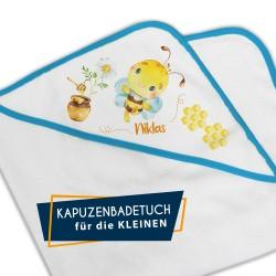 Kapuzenbadetuch - Biene