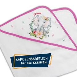 Kapuzenbadetuch - Elefanten...