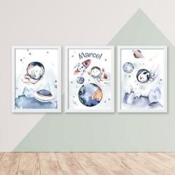 Kinderzimmerbilder 3er -...