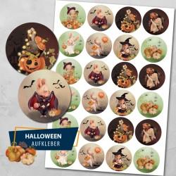 Halloween Hasen Aufkleber