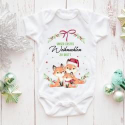 XMas Babybody - Fuchsfamilie